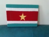 crocheted surinamese flag
