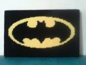 The old batman logo crocheted.